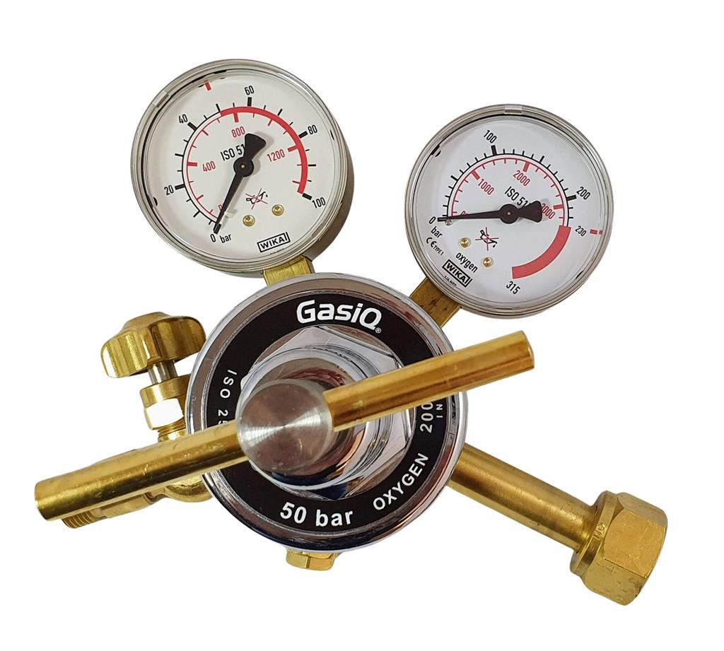 "HIGH PRESSURE REGULATOR OXYGEN 0-50 BAR W21,8"" x G3/8"